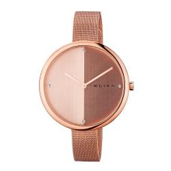 ELIXA Beauty時尚雙色錶盤米蘭帶系列 玫瑰金40mm