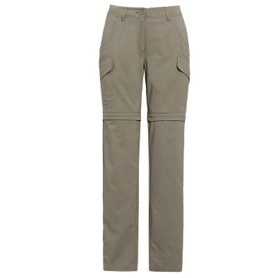 【hilltop山頂鳥】女款抗UV吸濕快乾彈性兩截褲S08F15-卡其