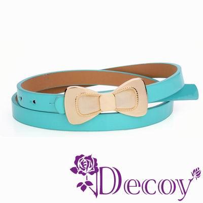 Decoy 貓眼蝴蝶結 糖果色皮帶 七色可選
