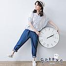 betty's貝蒂思 腰間鬆緊綁帶寬鬆長褲(深海藍)