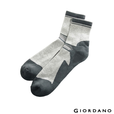 GIORDANO-跳色紳士襪-03-中花灰