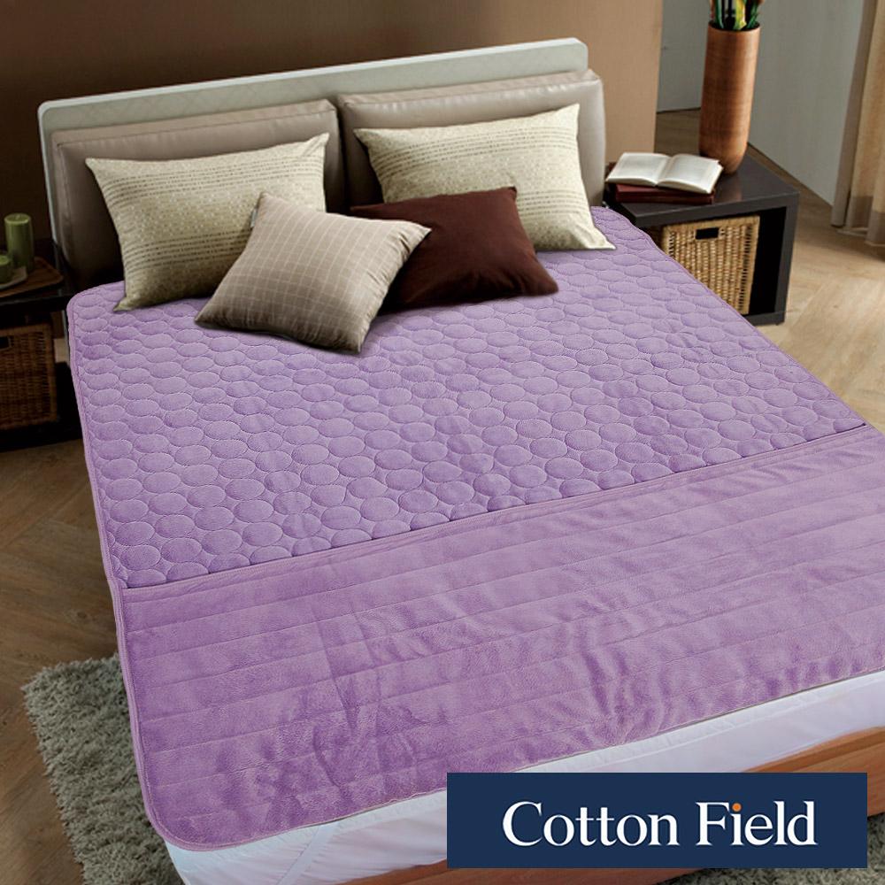棉花田 暖心 超細纖維暖腳單人保暖墊-粉紫色