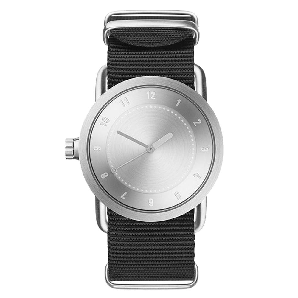 TID Watches No.1 TID-N1-36-銀X黑錶帶/36mm