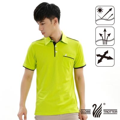 【遊遍天下】男款抗UV吸濕排汗機能POLO衫GS10013果綠