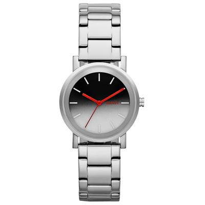 DKNY 紐約風格時尚三針腕錶-漸層色x銀/34mm