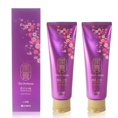韓國LG ReEn 頂級潤膏 香水雙效護髮洗髮乳(紫色) 250ml (2入)