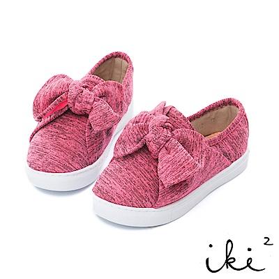 iki2童鞋 親子蝴蝶結輕量休閒鞋粉