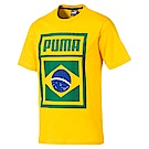 PUMA-足球系列國旗短袖T恤-巴西(M)