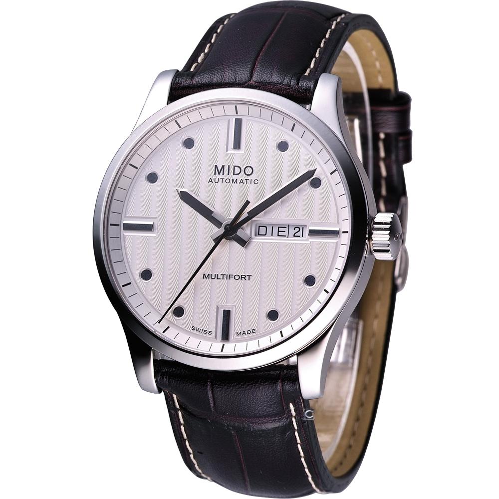 美度 MIDO Multifort 系列80小時機械腕錶-白/42mm