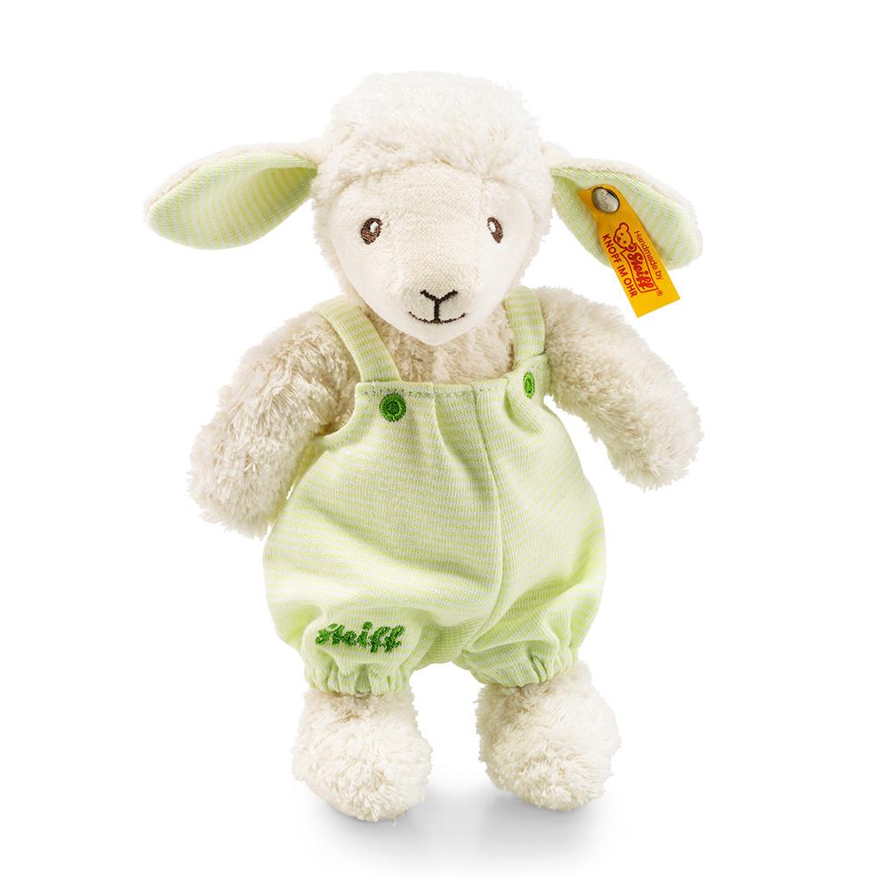STEIFF德國金耳釦泰迪熊 - 嬰幼兒玩偶 Lenny lamb, white/ligh