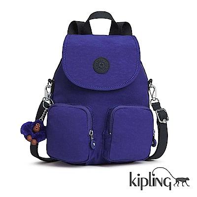 Kipling 後背包 靛紫素面-大