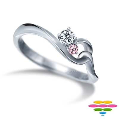 彩糖鑽工坊 19分鑽石戒指 愛情9號線系列