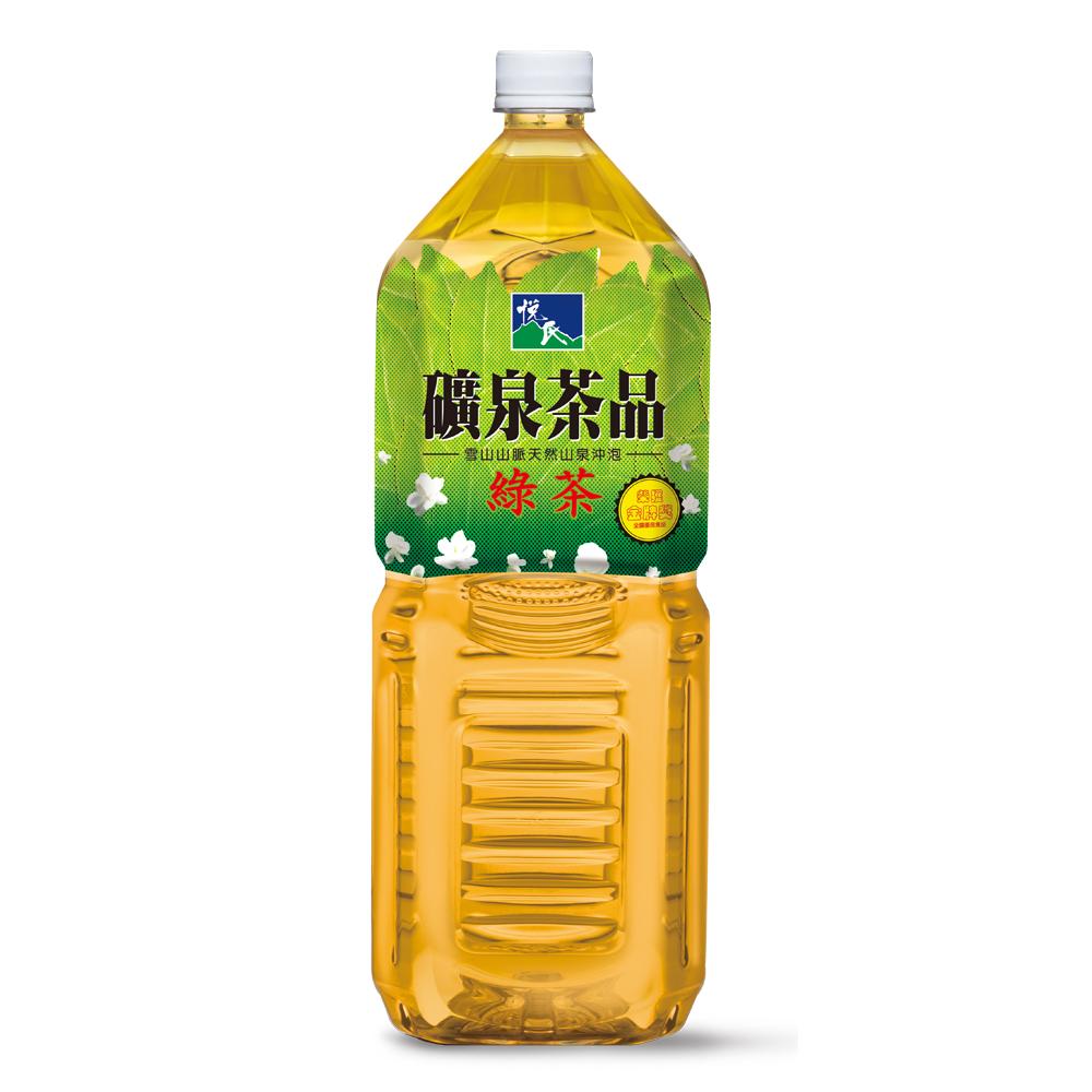 悅氏 礦泉茶品綠茶(2000ml x8入)