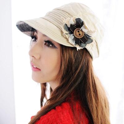 Aimee Toff 鄉郊甜美花蝴點綴造型時尚帽(米)