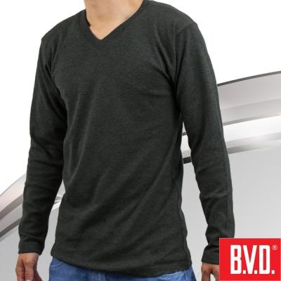 BVD 棉絨V領長袖衫-台灣製造