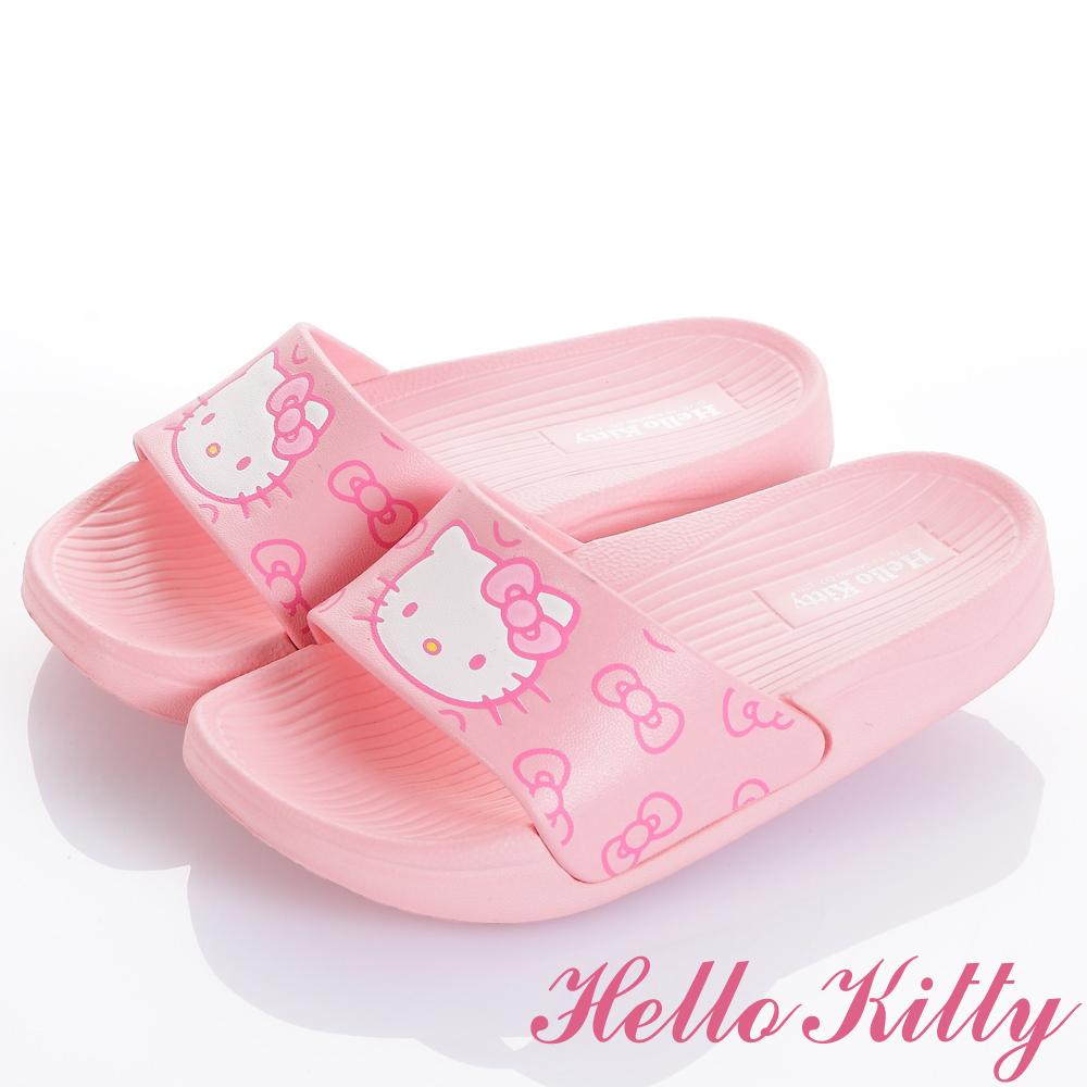 HelloKitty 輕量舒適減壓室內外拖鞋童鞋-粉(中小童)