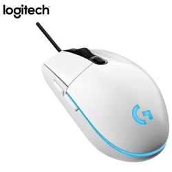 [全台獨家]羅技G102 純白有線電競滑鼠