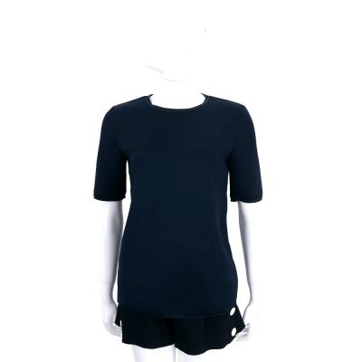 Max Mara-'S Max Mara 深藍色太空棉素面上衣