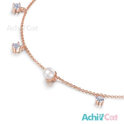AchiCat 腳鍊 氣質佳人 珍珠 玫金