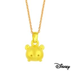 Disney迪士尼金飾 TSUM維尼黃金墜子 送項鍊