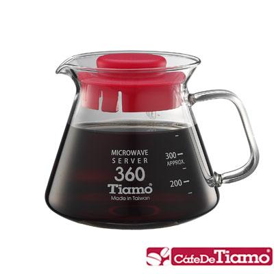 Tiamo 耐熱玻璃壺 360cc(玻璃把手)-五色