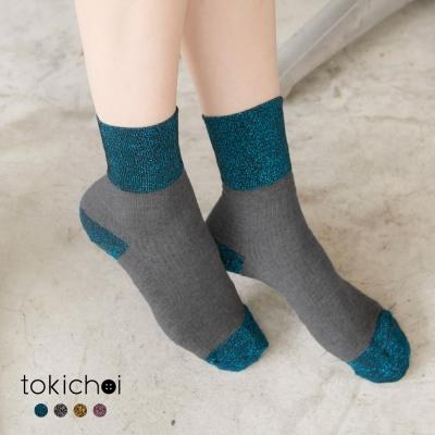 東京著衣 多色俏皮金蔥配色襪(共四色)