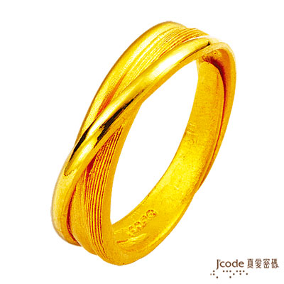 J'code真愛密碼-信望愛 純金戒指(男)
