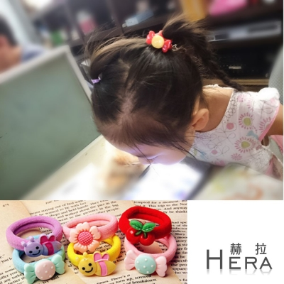 Hera-赫拉-糖果色大彈力卡通兒童無接縫髮圈-髮