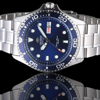 ORIENT 東方錶 WATER RESISTANT系列 藍水鬼潛水機械錶- 41 mm