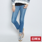 EDWIN MISS EDGE窄直筒牛仔褲-女-石洗藍