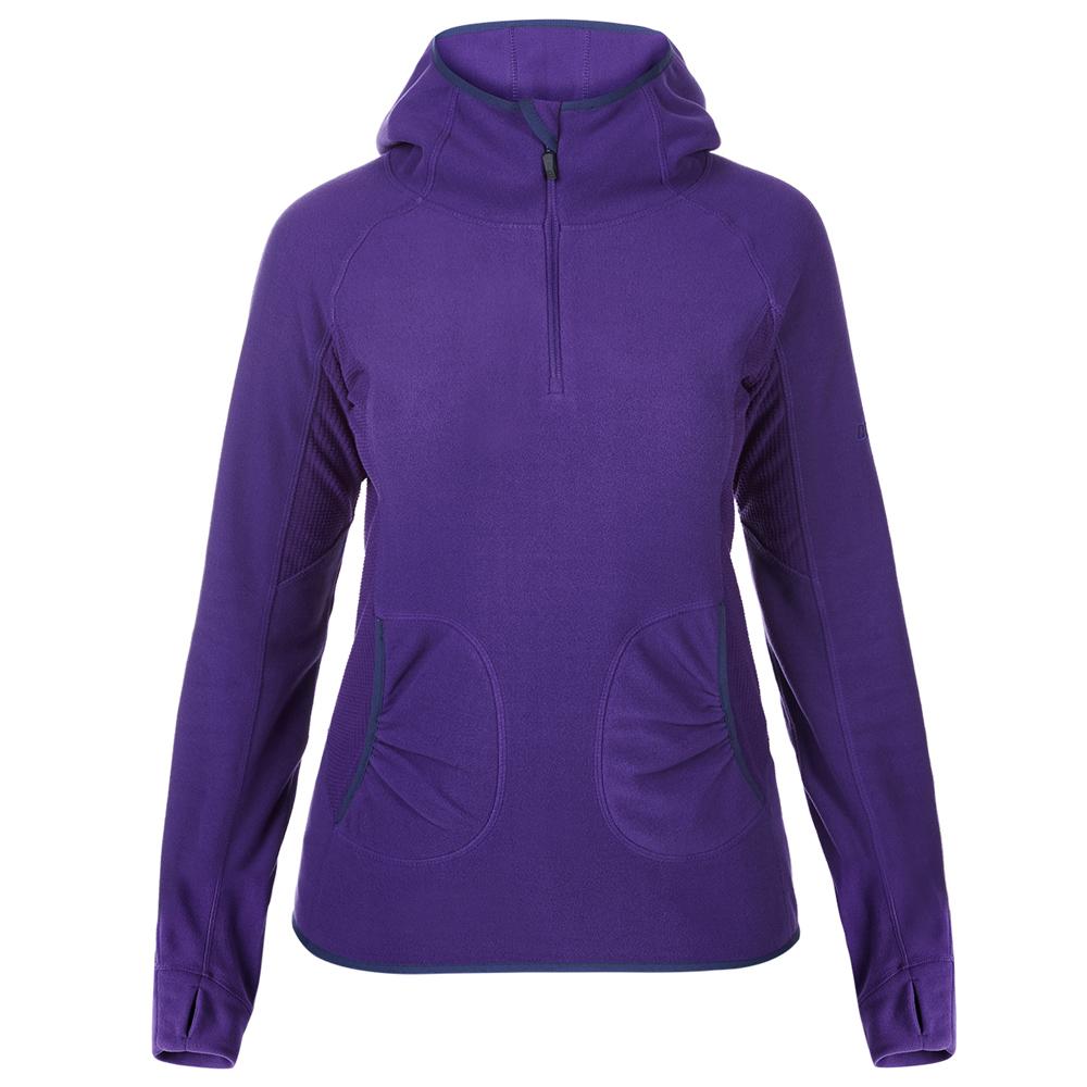 【Berghaus 貝豪斯】女款PRISM刷毛保暖連帽 上衣H51FC6紫