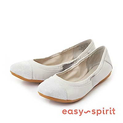 Easy Spirit--極簡360度翻摺娃娃平底鞋-質感灰