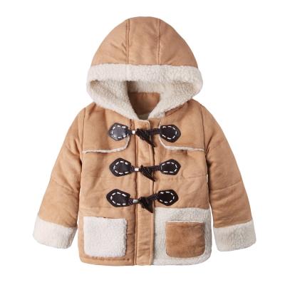baby童衣-中小童外套-牛角扣保暖連帽外套