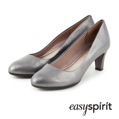 Easy-Spirit-素雅簡約羊皮中跟鞋-灰色