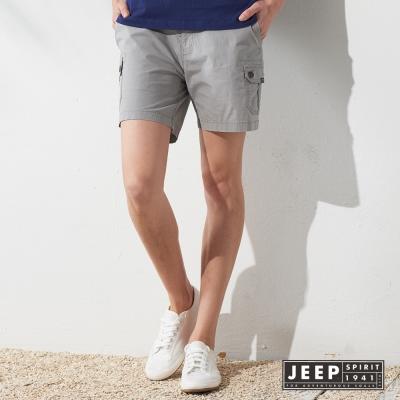 JEEP 女裝 經典帥氣百搭休閒短褲 (灰色)