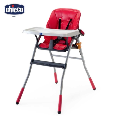 chicco-Jazzy輕便高腳餐椅--紅