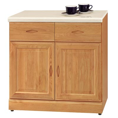 時尚屋長榮正赤陽木2.7尺碗碟收納櫃