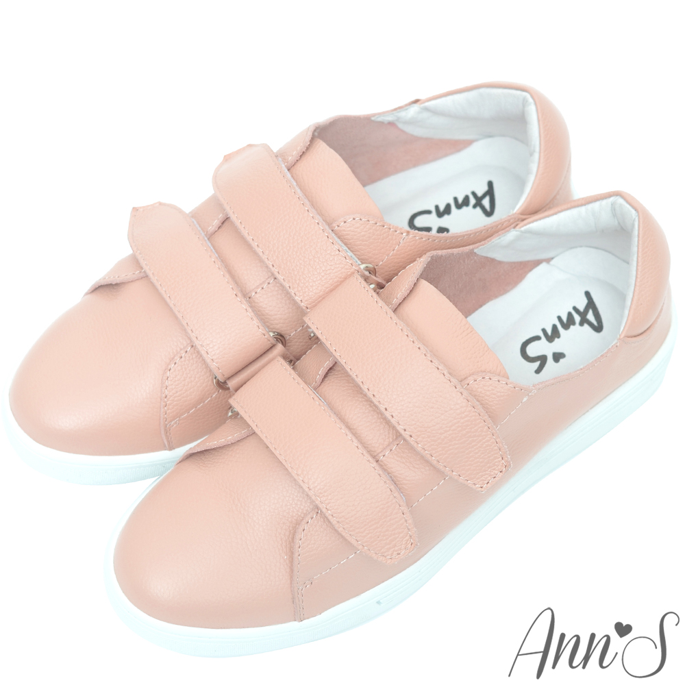 Ann'S超軟真牛皮雙魔鬼氈休閒鞋-粉
