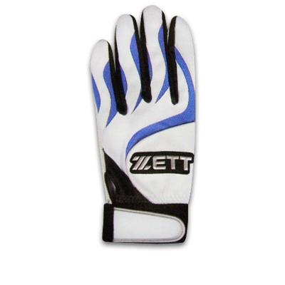 ZETT 高級皮革打擊手套 BBGT-366(白藍)