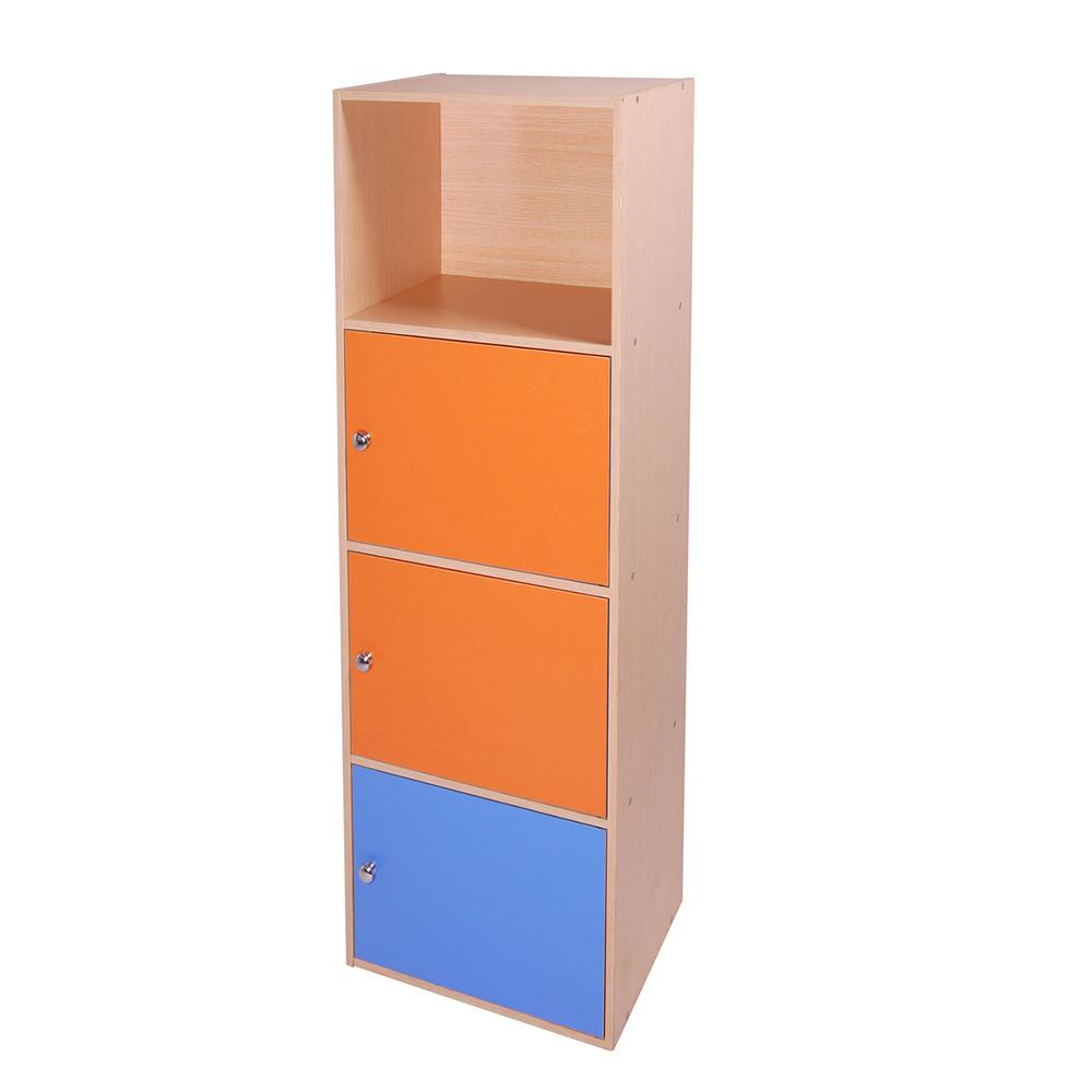 悅家居  一空三門DIY彩色收納櫃 書櫃 -17040133