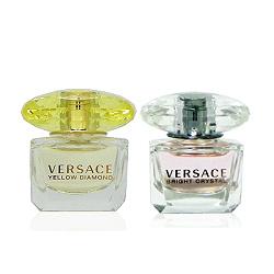 Versace 香愛黃鑽淡香水 5ml + 香戀水晶淡香水 5ml 特惠組