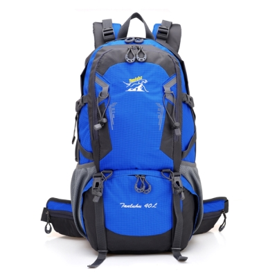 FK0631BU藍 輕量專業網架透氣休閒/登山背包40L
