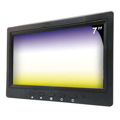 【CHICHIAU】7吋LCD螢幕顯示器(三組影像/BNC、AV、VGA輸入)