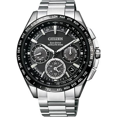 CITIZEN Eco-Drive衛星對時鈦金屬腕錶(CC 9015 - 54 E)-黑/ 44 mm
