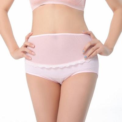 Keep Chic孕婦裝-網紗拼接棉質內褲(共三色)