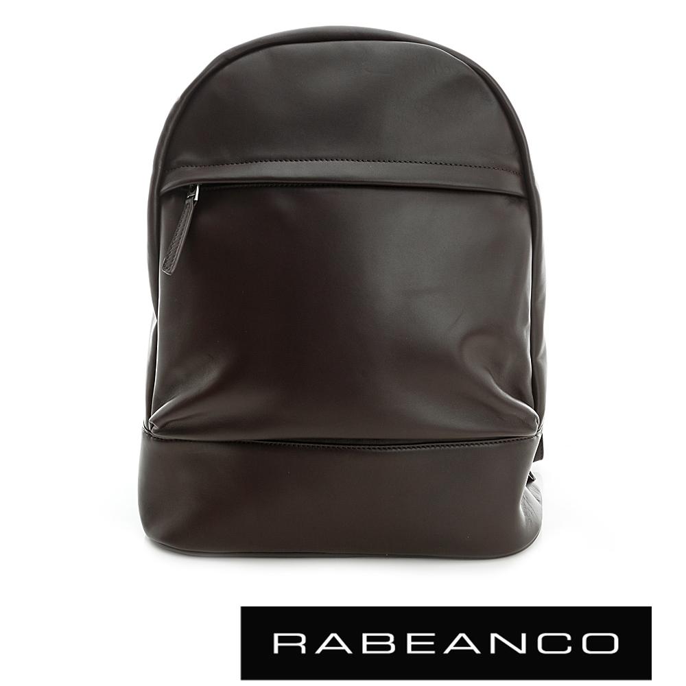 RABEANCO迷時尚羊皮系列柔軟後背包咖