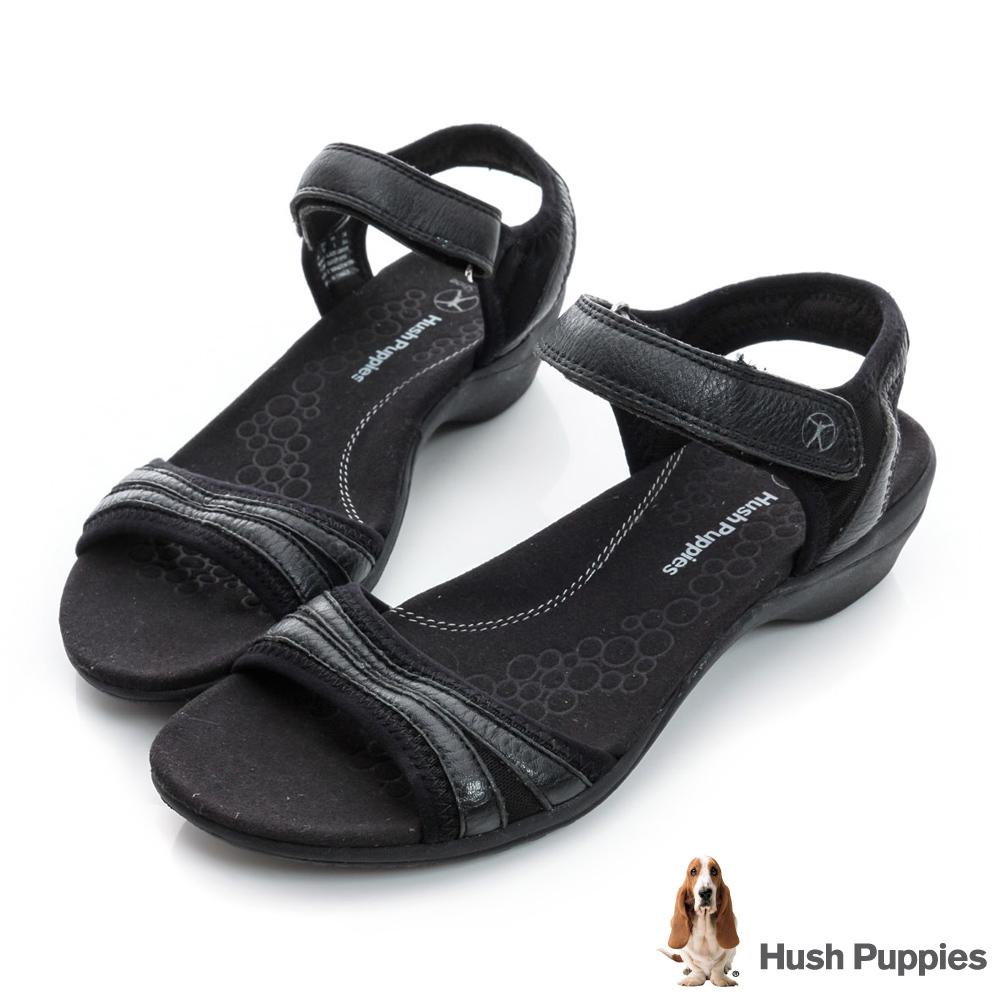 Hush Puppies ATHOS 舒適機能涼鞋-黑色