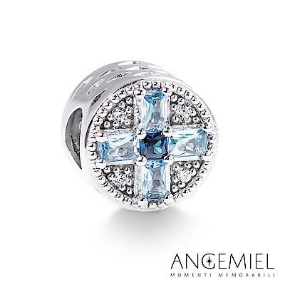 Angemiel安婕米 925純銀 串珠 湛藍十字