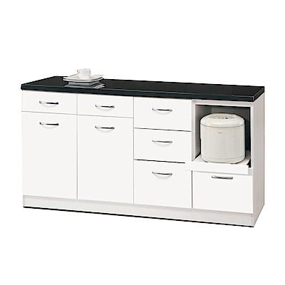 品家居 維多莉5.2尺石面餐櫃下座-157.2x46.3x81.5cm免組