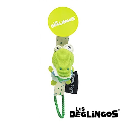 Les Deglingos 立體玩偶奶嘴夾-鱷魚 (ALiGATos)